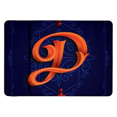 Marquis Love Dope Lettering Blue Red Orange Alphabet P Samsung Galaxy Tab 8 9  P7300 Flip Case by Mariart
