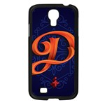 Marquis Love Dope Lettering Blue Red Orange Alphabet P Samsung Galaxy S4 I9500/ I9505 Case (Black) Front