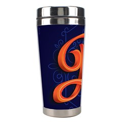 Marquis Love Dope Lettering Blue Red Orange Alphabet P Stainless Steel Travel Tumblers by Mariart