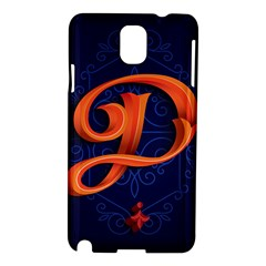 Marquis Love Dope Lettering Blue Red Orange Alphabet P Samsung Galaxy Note 3 N9005 Hardshell Case by Mariart