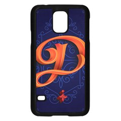 Marquis Love Dope Lettering Blue Red Orange Alphabet P Samsung Galaxy S5 Case (black) by Mariart