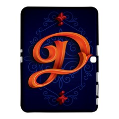 Marquis Love Dope Lettering Blue Red Orange Alphabet P Samsung Galaxy Tab 4 (10 1 ) Hardshell Case  by Mariart