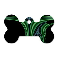 Line Light Star Green Black Space Dog Tag Bone (one Side) by Mariart
