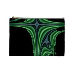 Line Light Star Green Black Space Cosmetic Bag (large)  by Mariart
