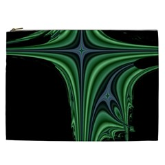 Line Light Star Green Black Space Cosmetic Bag (xxl)  by Mariart