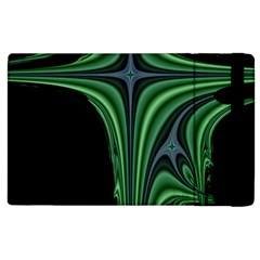 Line Light Star Green Black Space Apple Ipad 3/4 Flip Case by Mariart