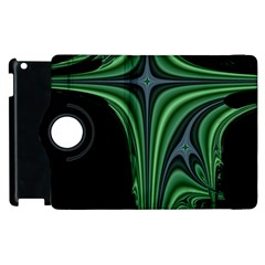 Line Light Star Green Black Space Apple Ipad 2 Flip 360 Case by Mariart