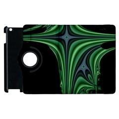 Line Light Star Green Black Space Apple Ipad 3/4 Flip 360 Case by Mariart