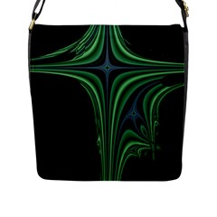 Line Light Star Green Black Space Flap Messenger Bag (l)  by Mariart