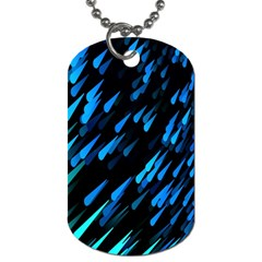 Meteor Rain Water Blue Sky Black Green Dog Tag (one Side) by Mariart