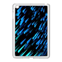 Meteor Rain Water Blue Sky Black Green Apple Ipad Mini Case (white) by Mariart