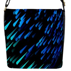 Meteor Rain Water Blue Sky Black Green Flap Messenger Bag (s) by Mariart
