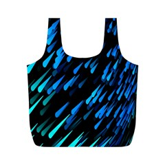 Meteor Rain Water Blue Sky Black Green Full Print Recycle Bags (m)  by Mariart