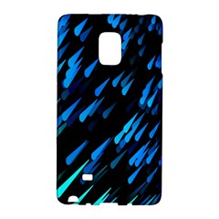 Meteor Rain Water Blue Sky Black Green Galaxy Note Edge by Mariart