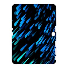 Meteor Rain Water Blue Sky Black Green Samsung Galaxy Tab 4 (10 1 ) Hardshell Case  by Mariart