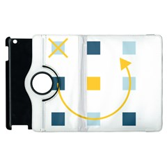 Plaid Arrow Yellow Blue Key Apple Ipad 3/4 Flip 360 Case by Mariart