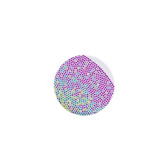 Japanese Name Circle Purple Yellow Green Red Blue Color Rainbow 1  Mini Buttons by Mariart