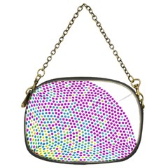 Japanese Name Circle Purple Yellow Green Red Blue Color Rainbow Chain Purses (one Side)  by Mariart