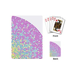 Japanese Name Circle Purple Yellow Green Red Blue Color Rainbow Playing Cards (mini)  by Mariart