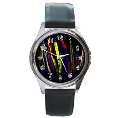 Multicolor Lineage Tracing Confetti Elegantly Illustrates Strength Combining Molecular Genetics Micr Round Metal Watch by Mariart