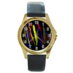 Multicolor Lineage Tracing Confetti Elegantly Illustrates Strength Combining Molecular Genetics Micr Round Gold Metal Watch by Mariart