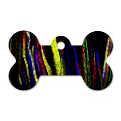 Multicolor Lineage Tracing Confetti Elegantly Illustrates Strength Combining Molecular Genetics Micr Dog Tag Bone (two Sides) by Mariart