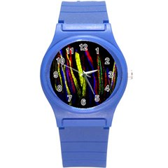 Multicolor Lineage Tracing Confetti Elegantly Illustrates Strength Combining Molecular Genetics Micr Round Plastic Sport Watch (s) by Mariart