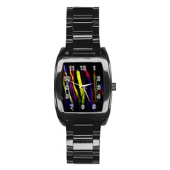 Multicolor Lineage Tracing Confetti Elegantly Illustrates Strength Combining Molecular Genetics Micr Stainless Steel Barrel Watch by Mariart