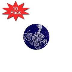 Pisces Zodiac Star 1  Mini Magnet (10 Pack)  by Mariart