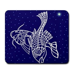 Pisces Zodiac Star Large Mousepads by Mariart