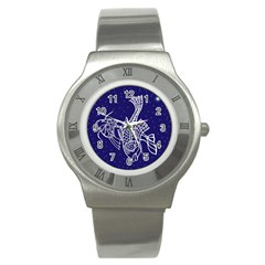 Pisces Zodiac Star Stainless Steel Watch by Mariart