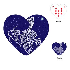 Pisces Zodiac Star Playing Cards (heart)  by Mariart