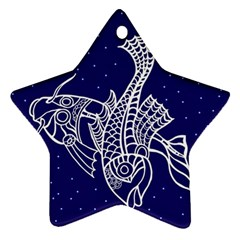 Pisces Zodiac Star Star Ornament (two Sides) by Mariart