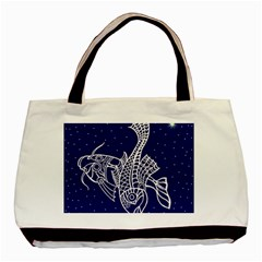 Pisces Zodiac Star Basic Tote Bag (two Sides) by Mariart