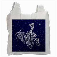 Pisces Zodiac Star Recycle Bag (two Side)  by Mariart