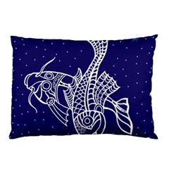 Pisces Zodiac Star Pillow Case (two Sides) by Mariart