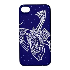Pisces Zodiac Star Apple Iphone 4/4s Hardshell Case With Stand by Mariart