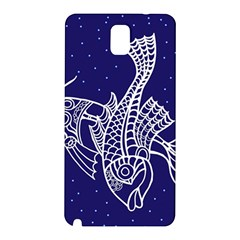 Pisces Zodiac Star Samsung Galaxy Note 3 N9005 Hardshell Back Case by Mariart