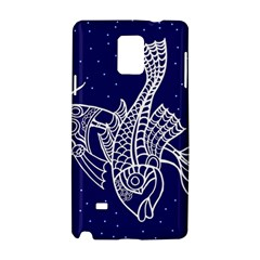 Pisces Zodiac Star Samsung Galaxy Note 4 Hardshell Case by Mariart