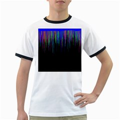 Rain Color Paint Rainbow Ringer T-shirts by Mariart