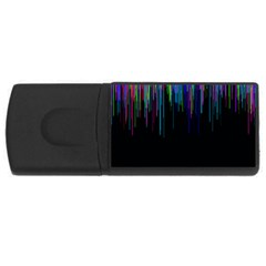 Rain Color Paint Rainbow Usb Flash Drive Rectangular (4 Gb) by Mariart