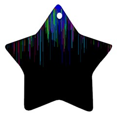 Rain Color Paint Rainbow Star Ornament (two Sides) by Mariart