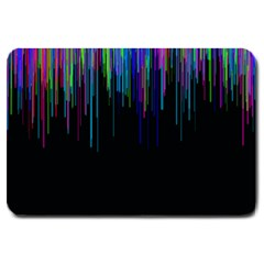 Rain Color Paint Rainbow Large Doormat  by Mariart