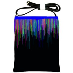 Rain Color Paint Rainbow Shoulder Sling Bags by Mariart