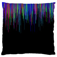 Rain Color Paint Rainbow Large Cushion Case (two Sides) by Mariart