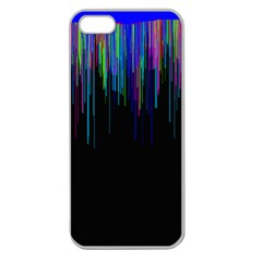 Rain Color Paint Rainbow Apple Seamless Iphone 5 Case (clear) by Mariart