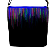 Rain Color Paint Rainbow Flap Messenger Bag (l)  by Mariart