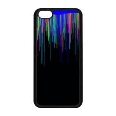 Rain Color Paint Rainbow Apple Iphone 5c Seamless Case (black) by Mariart
