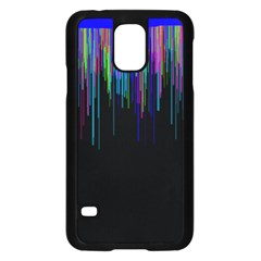 Rain Color Paint Rainbow Samsung Galaxy S5 Case (black) by Mariart
