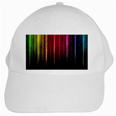 Rain Color Rainbow Line Light Green Red Blue Gold White Cap by Mariart